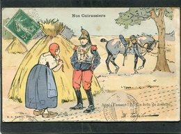 CPA - Illustration - Nos Cuirassiers - Après L'assaut - Un Brin De Toilette - Guerra 1914-18