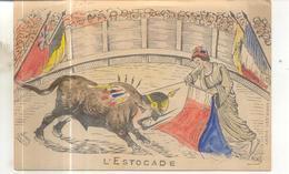 (Corrida) Illustrateur : L'estocade (carte Militaria, Patriotique, Humouristique) - Patriotiques