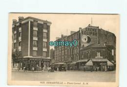 93 - ROMAINVILLE - Place Carnot - Quincaillerie - Bar Tabac - Autobus - Romainville