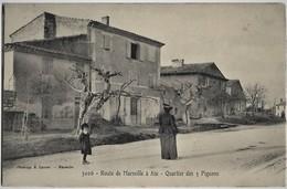 A3 BDR 13 AIX EN PROVENCE Quartier Des 3 Pigeons Boulangerie Route De Marseille TBE N'a Pas Circulé Lacour - Aix En Provence