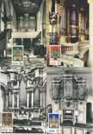 8249  Orgue Silbermann: 4 Cartes Maximum D'Allemagne (DDR), 1976 - Organ Maximum Cards From Germany - Musique