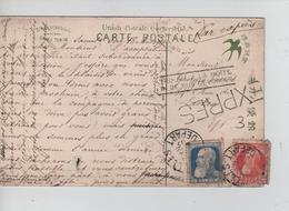 REF172/ TP 74-76 (GB) S/CP Japonaise (Geisha) En Exprès C.BXL Départ 1907 Gff Trouvé > Laeken - 1905 Grosse Barbe