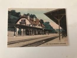 Carte Postale Ancienne Gare De PUIDOUX-CHEXBRES - VD Vaud