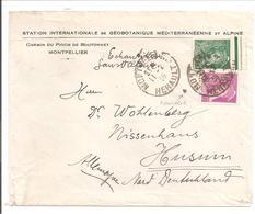 Mercure Rep. 20c + 25c Borde De Feuille Yv410+411 Tarif De 1.12.38 Echantillion.Montpellier Station Int. De Géobotanique - Postmark Collection (Covers)
