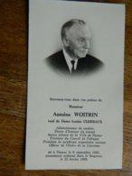 NAMUR : SOUVENIR DE DECE DE  ANTOINE WOITRIN VEUF LOUISE  CLERBAUX-1885-1968-  ANCIEN ECHEVIN +D'AUTRES ACTIVITE - Devotieprenten