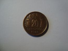 MONNAIE CHILI 20 CENTAVOS 1943 - Chile