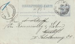 Oesterreich / 1890 / Rohrpostkarte O (3602) - Stamped Stationery