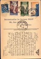 Lettre, Carte De La Reunion, Saint Denis Pour La France, Paris, 1949     (bon Etat) - Marcophilie (Lettres)