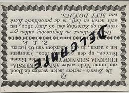 OVERLIJDENS BERICHT BRUGGE : ZUSTER  ANNA SPINNEWYN  + 1810 -65 JAAR - Religione & Esoterismo