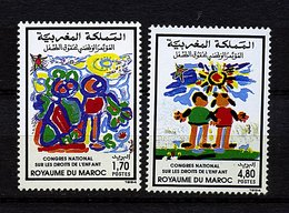 Roy. Maroc ** N° 1158/1159 - Congrès Sur Les Droits De L'enfant - Maroc (1956-...)