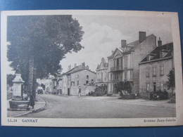 Carte Postale Gannat Avenue Jean Jaurès - Francia