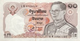 Thailand 10 Bath, P-87 (1980) - UNC - Signature 53 - Thailand