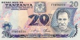 Tanzania 20 Shilingi, P-7c (1978) - UNC - Tanzanie