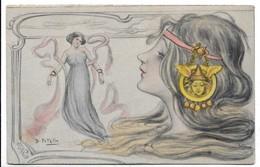 Illustratori - Donnina - B. Patella. - Unclassified