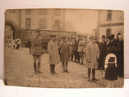 CPA 57 MOSELLE CARTE PHOTO MARECHAL PETAIN A BITCHE LE 18 MARS 1919 MILITAIRES SOLDATS WW1 679 - Bitche