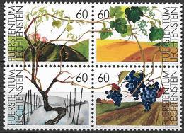 1994 Liechtenstein Mi. 1089-92**MNH  Die Weinrebe In Den Vier Jahreszeiten - Liechtenstein
