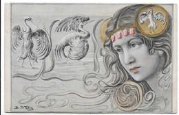 Illustratori - Donnina - B. Patella. - Illustratori & Fotografie