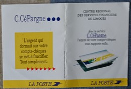 Petit Calendrier Poche 1995 La Poste  C.Cépargne Services Financiers Limoges - Calendars