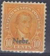 ETATS-UNIS ! Timbre Anciens NEUF SURCHARGE De 1922 N°284L ! NEBRASKA - Neufs