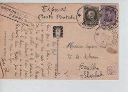 ;REF176/ TP 139-214 S/CP Blankenberg - Le Port C.T.Blankenberg 19/8/1923 Exprès > Schaerbeek - Belgique