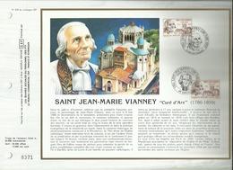 N° 816 DU CATALOGUE CEF . SAINT JEAN MARIE VIANNEY . CURE D'ARS . 03 MAI 1986 . ARS SUR FORMANS & DARDILLY . - 1980-1989