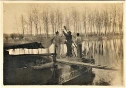 PHOTO FRANÇAISE - CANONNIÈRE SUR L'AISNE A JAULZY PRES DE ATTICHY - OISE - GUERRE 1914 1918 - 1914-18