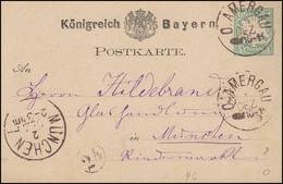 Bayern Postkarte O.AMERGAU 1.12.77 Nach MÜNCHEN 2.12. & Kreisnummer 24 - Bayern