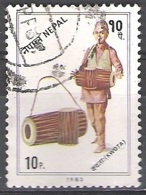 Nepal 1983 Michel 430 O Cote (2006) 0.10 Euro Tambour Cachet Rond - Népal