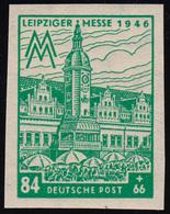 SBZ 165BXa Leipziger Messe 84 Pf, WZ.1X, Smaragdgrün, ** - Sowjetische Zone (SBZ)