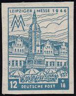 SBZ 163BXa Leipziger Messe 12 Pf, WZ.1X, Blaugrau, ** - Sowjetische Zone (SBZ)