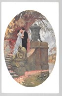Cpa..illustrateur Italien..Guerinoni..art Nouveau..couple S'embrassant.. - Guerinoni