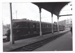 PHOTO Algérie Alger Gare Train Automoteur De Voyageurs Vers 1956 - Eisenbahnen