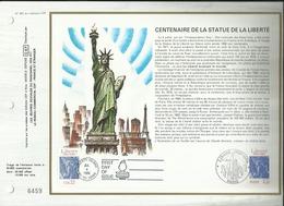 N° 824 DU CATALOGUE CEF . CENTENAIRE DE LA STATUE DE LA LIBERTE . 04 JUILLET 1986 . PARIS & NEW YORK . - FDC