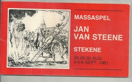 "België : Stekene : Programmabrochure Massaspel ""Jan Van Steene"" 1981. - Programma's"