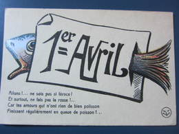 Carte Postale Premier Avril - 1° Aprile (pesce Di Aprile)