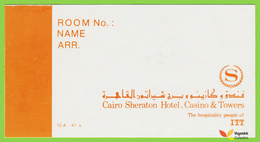 Voyo  SHERATON HOTEL CAIRO Egypt Hotel Label 1980s Vintage Sticker - Etiquettes D'hotels