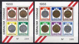 GIBRALTAR    Timbres Neufs ** De 1988 ( Ref  1325 ) Numismatique -monnaies - Gibraltar