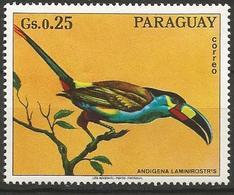 Paraguay - MNH 1973 - Family TOUCANS : Plate-billed Mountain Toucan ( Andigena Laminirostris ) - Pájaros