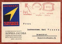 Karte, Absenderfreistempel, Deutscher Edelanthrazit Sophia-Jacoba, 3 Pfg, Hueckelhoven 1933 (88810) - Deutschland