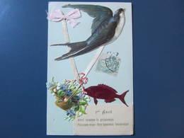 Carte Postale Premier Avril - 1 De April (pescado De Abril)