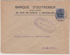 LP Belgien - 25 C. Germania, Zensurbrief N. ÖSTERREICH, Brüssel - Wien 1917 - Armada Alemana