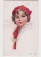 Cpa Fantaisie Signée E.C.Brisley / I'm Ready / Jolie Fillette Avec Bonnet Rouge - Illustrateurs & Photographes