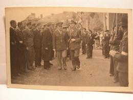 CPA CARTE PHOTO 91 GIF SUR YVETTE  LIBERATION 1944 GENERAUX GRADES MILITAIRE A IDENTIFIER 2EME DB DIVISION BLINDEE 699 - Gif Sur Yvette