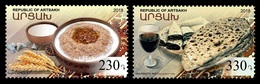 Armenia (Nagorno-Karabakh) 2018 Mih. 177/78 Gastronomy. National Cuisine MNH ** - Armenia