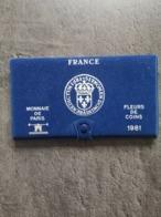VIDE EMPTY COFFRET FDC MONNAIE DE PARIS FRANCE 1981 - France