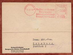 Karte, Absenderfreistempel, Gelsenkirchener Bergwerks-AG, 6 Pfg, Dortmund 1941 (88815) - Covers & Documents