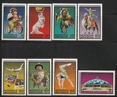 MONGOLIE - LE CIRQUE - N°651/8 ** (1973) - Circus