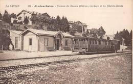 Aix Les Bains Plateau Du Revard Gare Train BF 114 Publicité Chirurgie Santé Perrier Biesles Canton Nogent - Aix Les Bains