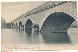 TOURS  - Crue Du Cher 1910, Pont St Sauveur - ND - Tours