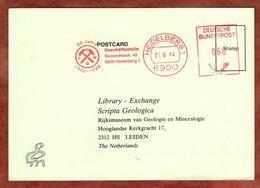 Karte, Absenderfreistempel, Vereinigung Mineralogie.., 60 Pfg, Heidelberg 1984 (88817) - BRD